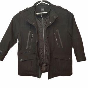 ❄ Peacoat wool blend men black  size XL jacket